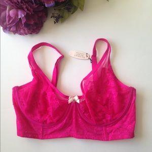 New Victoria's Secret Floral Lace Long Bra